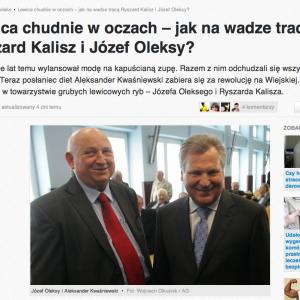 Lewica chudnie w oczach – jak na wadze tracą Ryszard Kalisz i Józef Oleksy?