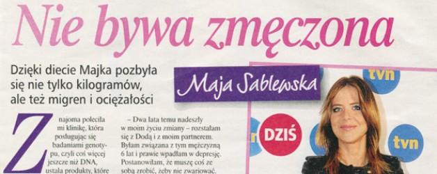 Maja Sablewska nie bywa zmęczona
