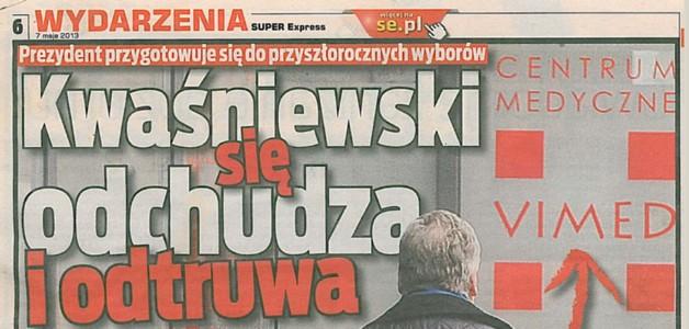 Kwaśniewski się odchudza